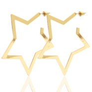 Trendy earrings star Gold (nickel free)