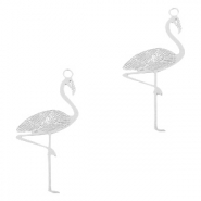 Bohemian charms flamingo Silver (nickel free)