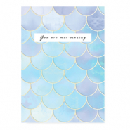 "Jewellery cards ""You are mer-mazing"" Blue"