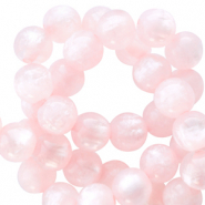 Polaris beads round 8 mm pearl shine Delicacy Pink