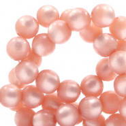 Super Polaris beads round 8 mm Cloud Coral Pink