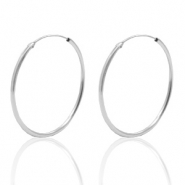 925 Silver findings earrings creole 33mm Silver