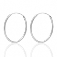 925 Silver findings earrings creole 20mm Silver