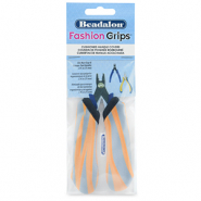 Beadalon Fashion Grips Tool Covers Tiger Orange-Grey