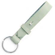 Cuoio key chain 15 mm Meadow Green