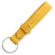 Cuoio key chain 15 mm Mineral Yellow