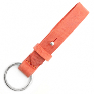 Cuoio key chain 15 mm Living Coral Red