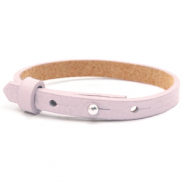 Leather Cuoio kids bracelet 8mm for 12mm cabochon Light Orchid Pink