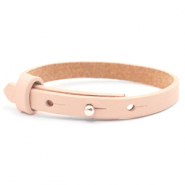 Leather Cuoio kids bracelet 8mm for 12mm cabochon Delicacy pink