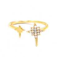 Must-have rings galaxy star Gold-Crystal (nickel free)