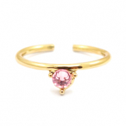Must-have rings one stone Gold-Pink (nickel free)