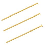 DQ metal headpin 25mm Gold (nickel free)