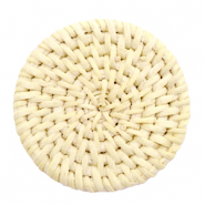 Braided rattan pendants round 45mm Naturel Beige