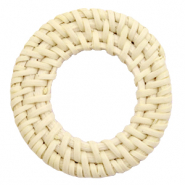 Braided rattan pendants round 45-50mm Naturel Beige