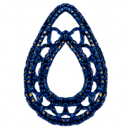 Crochet pendants drop Denim bBue