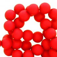4 mm acrylic beads matt Red