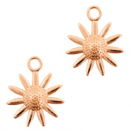 DQ European metal charms flower Rose Gold (nickel free)