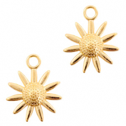 DQ European metal charms flower Gold (nickel free)