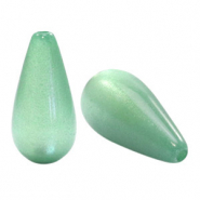 Super Polaris Elements drop shaped beads shiny Meadow Green