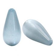 Super Polaris Elements drop shaped beads shiny Powder Blue