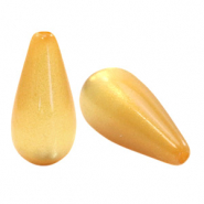 Super Polaris Elements drop shaped beads shiny Mineral Yellow