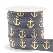 Elastic ribbon anchor Anthracite-Gold