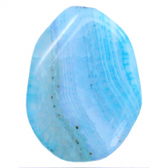 Semi-precious stones agate oval Light Blue Opal