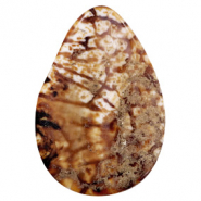 Semi-precious stones agate drop Multicolour Brown-White