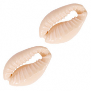 Cowrie Shell bead Sand Rose