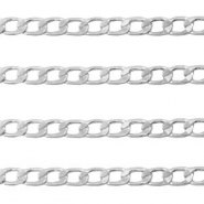 DQ European metal findings belcher chain flat 3.5mm Antique Silver (nickel free)