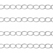 DQ European metal findings belcher chain 3mm Antique Silver (nickel free)