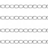 DQ European metal findings belcher chain 2.6mm Antique Silver (nickel free)