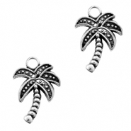 Metal charms palmtree Antique Silver (nickel free)