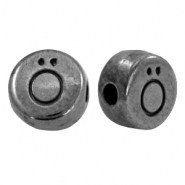 DQ European metal letter beads Ö Gunmetal (nickel free)