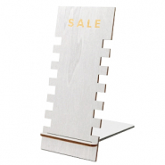 "Jewellery display wood ""SALE"" Metallic Silver"