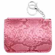 Trendy wallets snake Light Magenta Pink