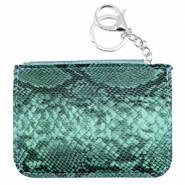 Trendy wallets snake Turquoise Green