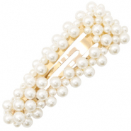 Hair accessories hair clip pearls Off White-Gold