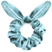 Scrunchie velvet hair tie bow Purist Blue