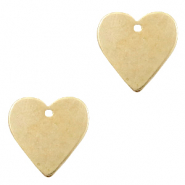 DQ European metal charms heart Antique Bronze (nickel free)