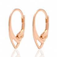 DQ European metal findings closable earrings Rose Gold (nickel free)