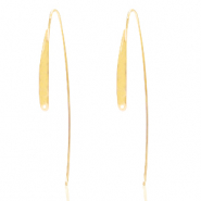 DQ European metal findings earrings Gold (nickel free)