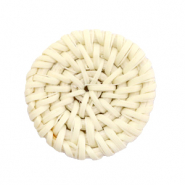 Braided rattan pendants round 30mm Natural Beige