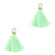 Tassels 1.5cm Gold-Mint Green