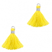 Tassels 1.5cm Silver-Freesia Yellow