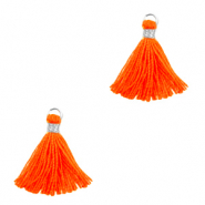 Tassels 1.5cm Silver-Neon Orange
