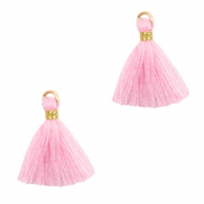Tassels 1.5cm Gold-Light Pink