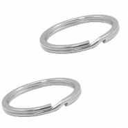 Stainless Steel findings keychain ring 28mm Silver