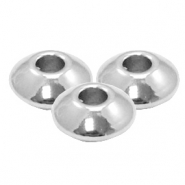 Stainless Steel findings beads disc 5x2.5mm (Ø1.6mm) Silver
