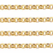 Stainless Steel findings belcher chain 3mm Gold